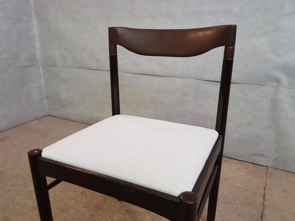 Set of 8 Danish Mid Century Modern Moller Style Reupholstered Dining Chairs