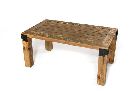 handmade reclaimed wood coffee table