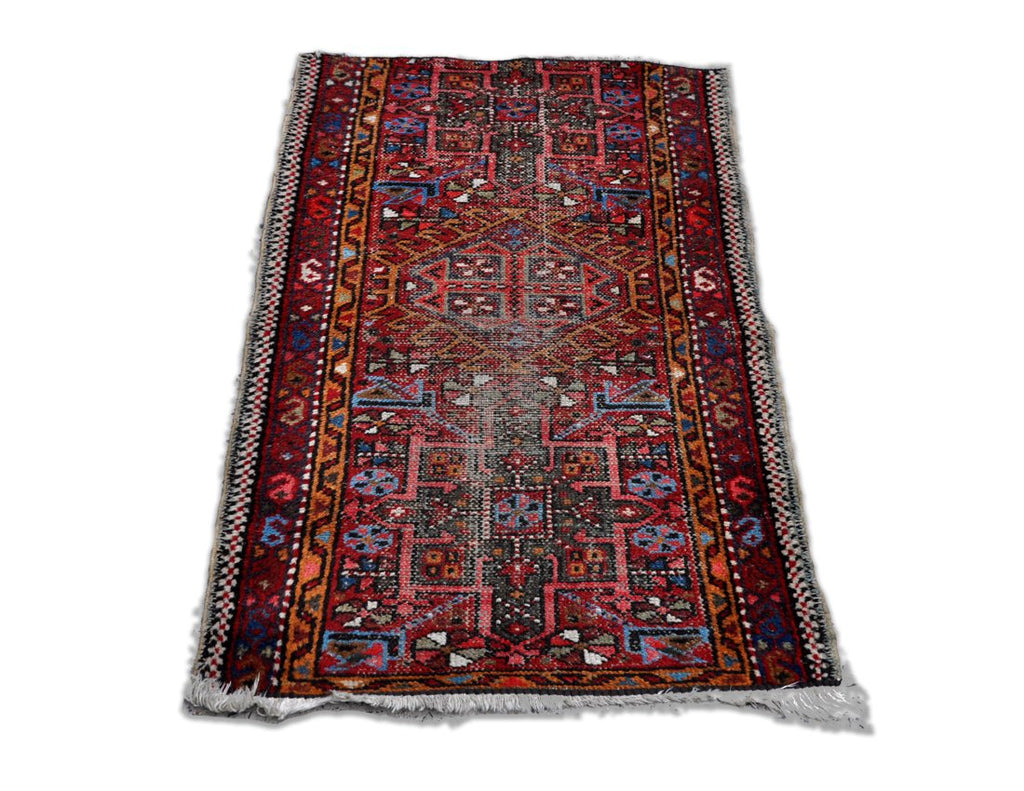 Multicolored Vintage Oriental Turkish Rug Kilim with beautiful Geometric Patterns