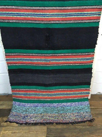 Image of Large Antique Turkish Kilim Tribal Rug - 3′8″ × 9′7″