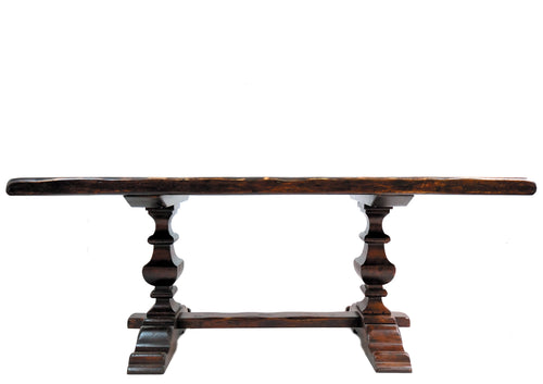 antique trestle dining table