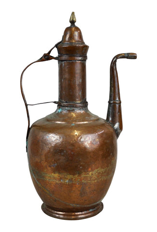 Image of Antique Middle East Copper Water Pitcher
