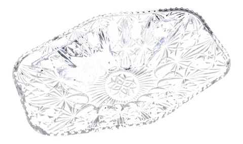 Image of French Vintage 1960's Cristal D'Arques 24 Lead Crystal Fruit Bowl Fructiere
