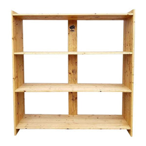Handmade Large Solid Rustic Reclaimed Pine Wood Timber Storage Furniture Bookshelf by DARVO
