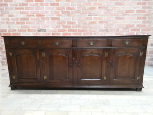 Early 20th C. French Country Oak Sideboard Credenza Buffet Server