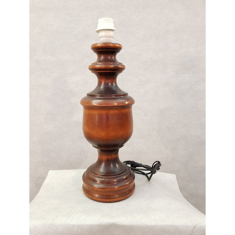 1950s French Vintage Mid-century Wooden Desk Table Lamp