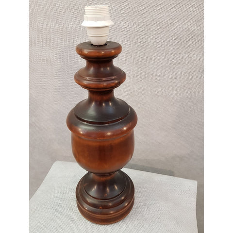 Image of 1950s French Vintage Mid-century Wooden Desk Table Lamp