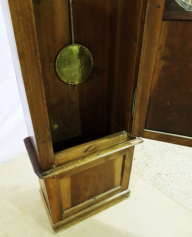 19th century Antique French Tall Oak Clock Case