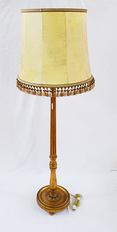 Antique Vintage French Wooden Gilded Lighting Three-Way Floor Lamp