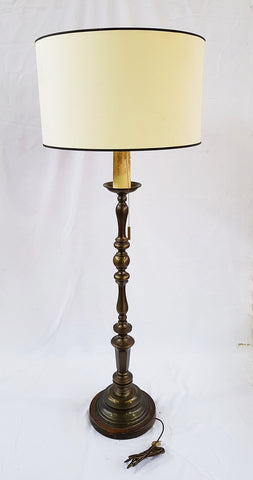 Antique French Lighting Brass Three-Way Floor Lamp