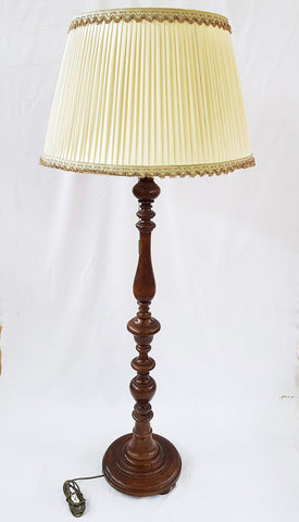 Vintage French Lighting Wooden Three-Way Floor Lamp