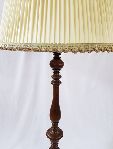 Vintage French Lighting Wooden Floor Lamp