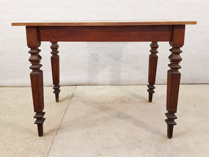Antique French Neoclassical Small Oak Writing Desk Table