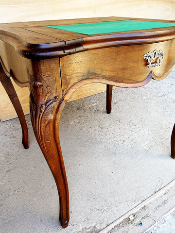 Antique French Walnut Stand Desk or Vanity Side Table