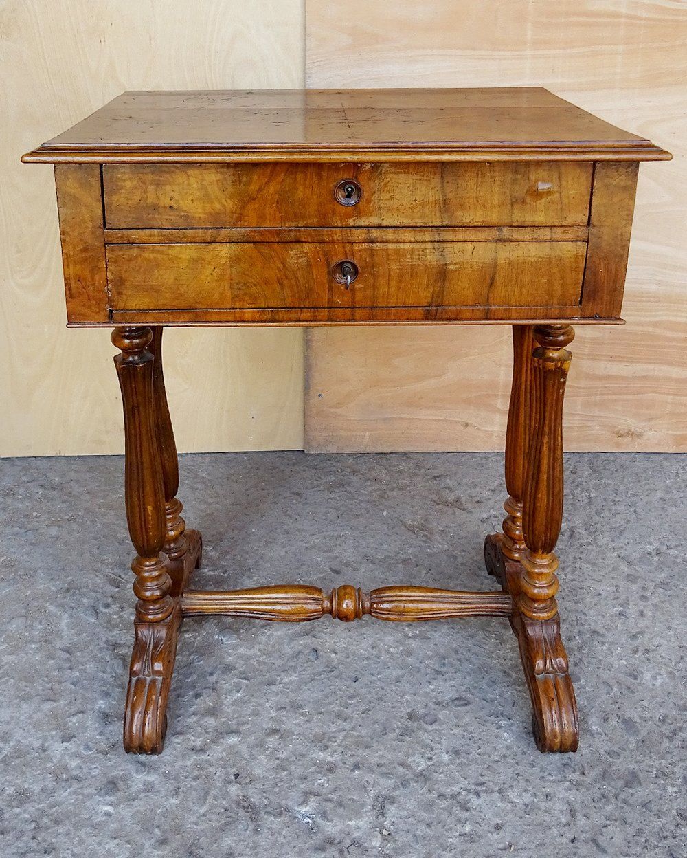... Antique French Walnut and Bulr Wood Vanity Armoire Stand Desk ... - Antique French Walnut And Burl Wood Vanity Armoire Stand Desk