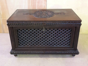 Vintage Wooden Storage Trunk Box