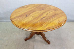 Antique French Walnut Round Tilt Top Occasional Side Breakfast Table