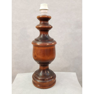 French Vintage Wood Desktop Table Lamp