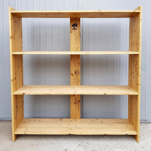 Image of Handmade Large Solid Rustic Reclaimed Pine Wood Timber Storage Furniture Bookshelf by DARVO
