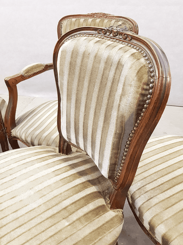 Set of Six French Antique Louis Chairs Two Armchairs Four Side Chairs