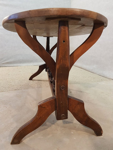 Image of Vintage Oval Oak Mid Century Coffee Accent Table