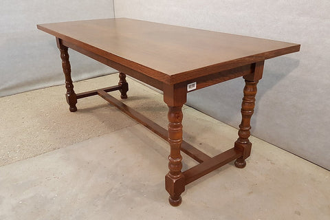 Vintage Pine H-stretcher Dining Table