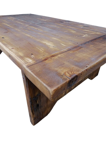 Reclaimed Wood Rustic Coffee Table Distressed Great Patina