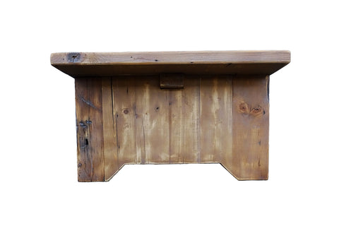 Image of Reclaimed Wood Rustic Coffee Table Distressed Great Patina