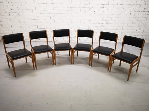 Set of 6 Mid-Century Modern Danish Design Moller Style Dining Chairs