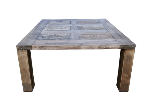 Image of Darvo Reclaimed Pine Wood Wine Crates Rustic Coffee Table