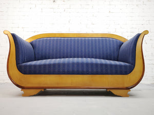 Rare Vintage Biedermeier Sofa Couch Settee Swedish Early 20th century