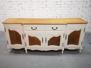 Vintage Restored New Look French Countryside Sideboard Credenza Buffet Server