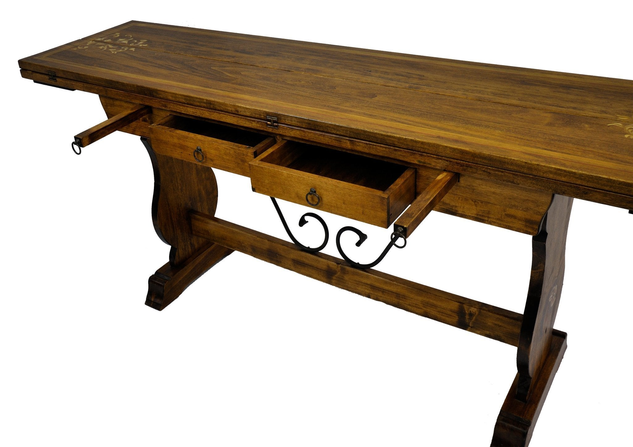 Swiss alpine solid oak antique folding dining table for Amazing folding dining table