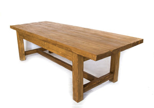 handmade rustic wooden dining table