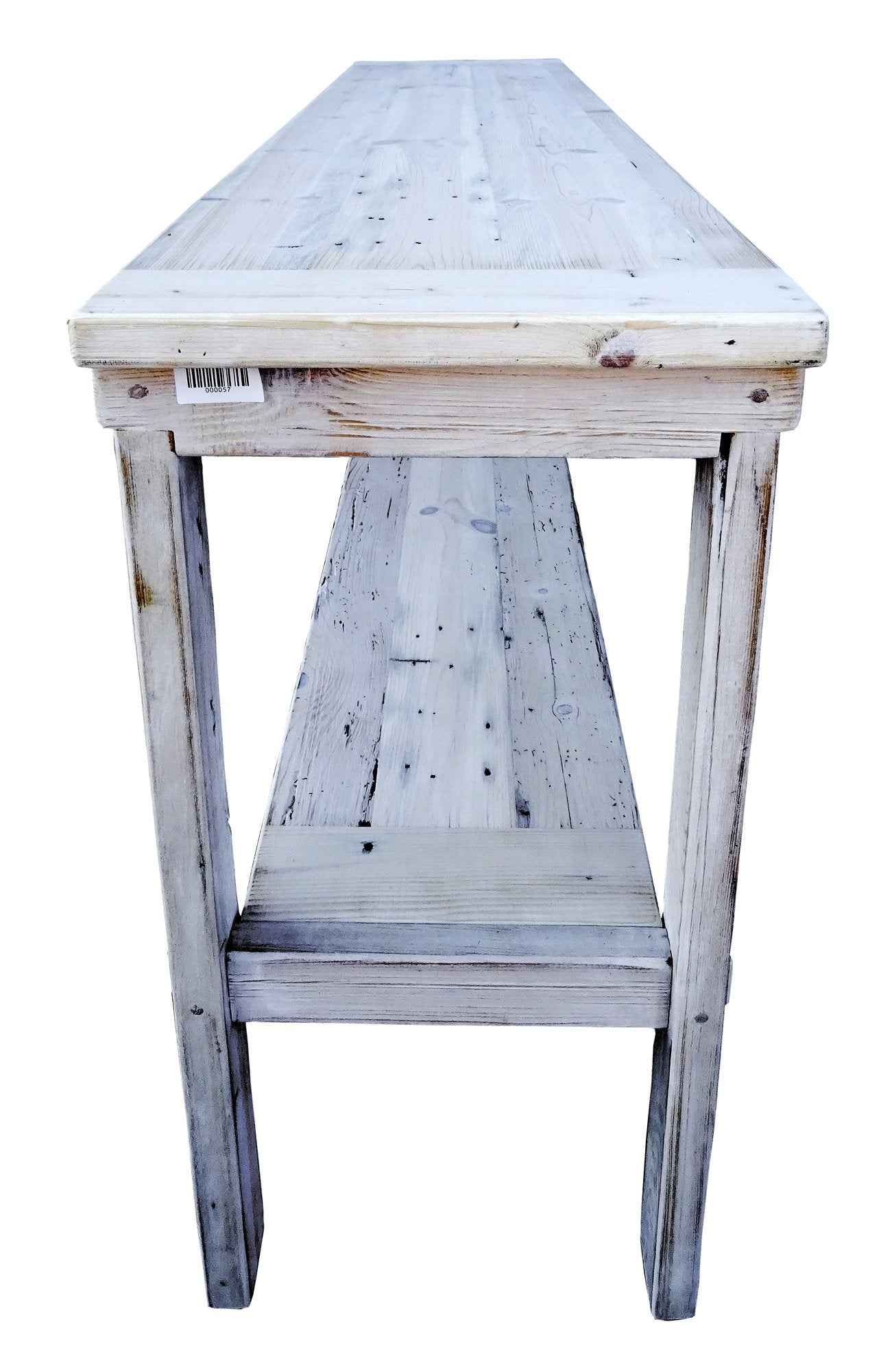 distressed white washed furniture. Reclaimed Wood Sofa Table Whitewashed Rustic Shabby Shic Distressed White Washed Furniture A