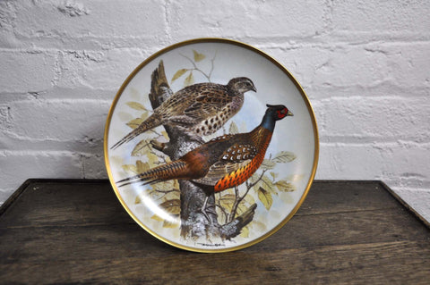 Image of Franklin Limoges Porcelain Wall Plate Gamebirds Motif Limited Edition 1979 French