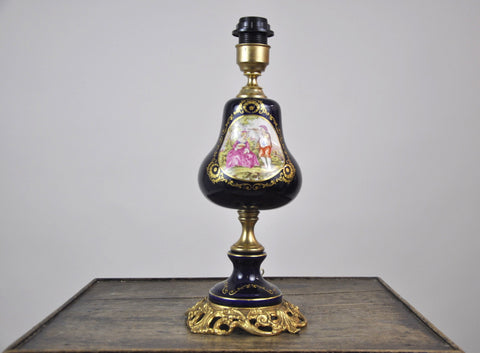 French Antique Glass Petrol Lamp c1900's