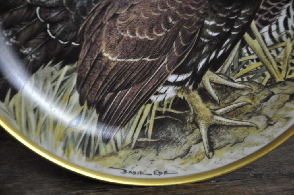 Franklin Limoges Porcelain Wall Plate Gamebirds Motif Limited Edition 1979 France Capercaillie