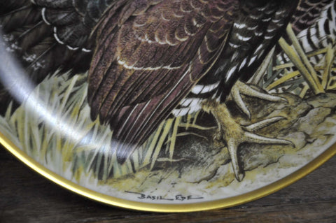 Image of Franklin Limoges Porcelain Wall Plate Gamebirds Motif Limited Edition 1979 France Capercaillie