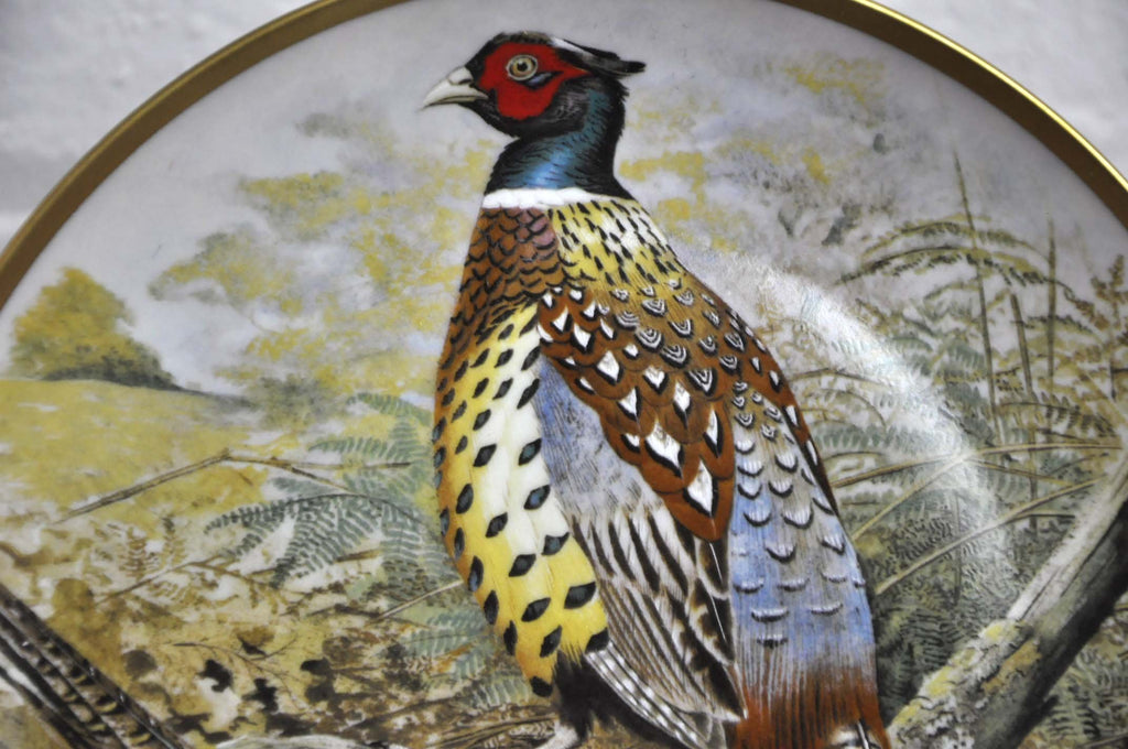 Franklin Limoges Porcelain Wall Plate Gamebirds Motif Limited Edition 1979 France Chinese Pheasant
