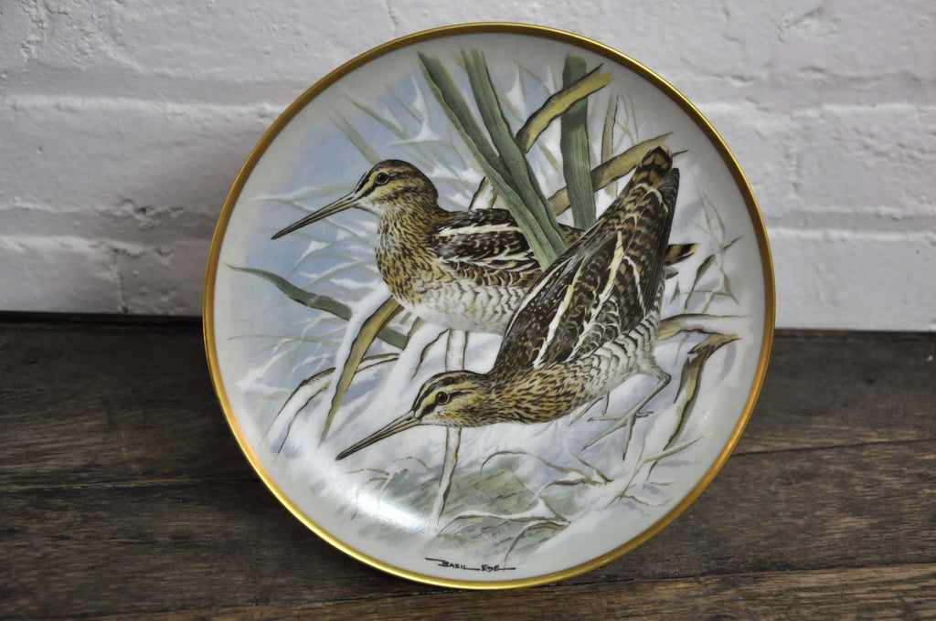 Franklin Limoges Porcelain Wall Plate Gamebirds Motif Limited Edition 1979 France Common Snipe