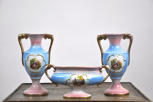 Vintage 1930's  Italian Porcelain Wedding Service Set for Newlywed Couples Rare