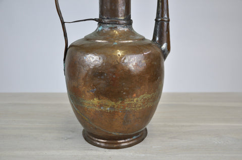 Image of Antique Vintage Oriental Copper Water Coffee Pitcher