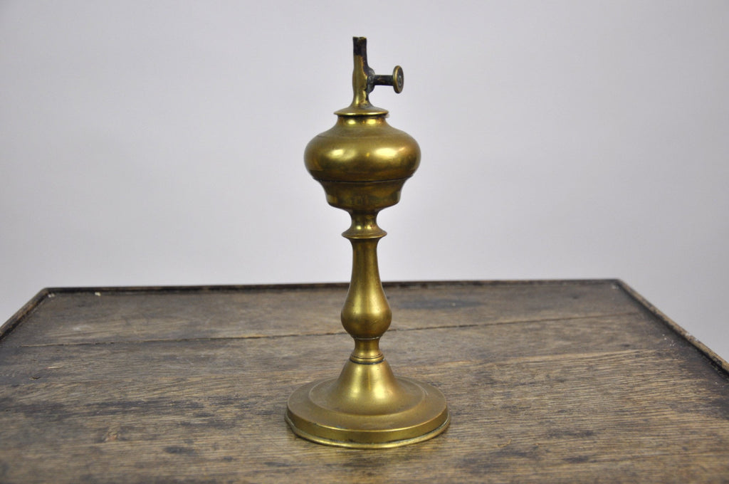 Antique French Bronze Oil Lamp early 1920's