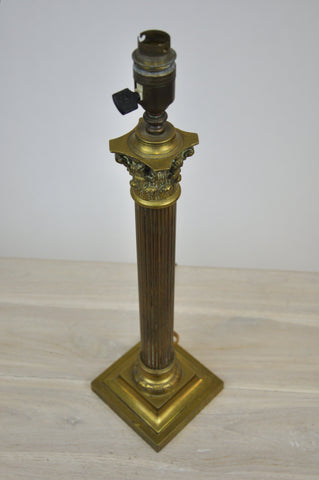Image of Antique French Style Neoclassical Revival Brass Table Lamp