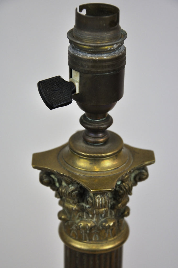 Antique French Style Neoclassical Revival Brass Table Lamp