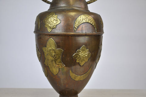Image of Large Antique Decorative  French Copper Vase