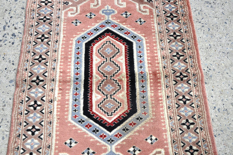 Vintage Oriental Turkish Medallion Rug Kilim