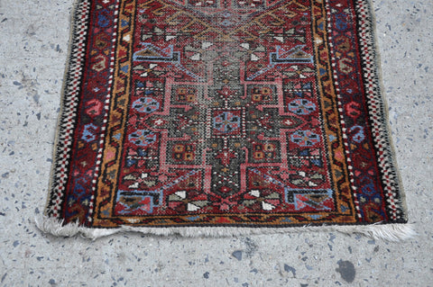 Image of Multicolored Vintage Oriental Turkish Rug Kilim with beautiful Geometric Patterns