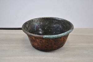 Antique Oxidized Copper Saucepan